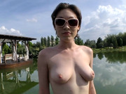 Tall brunette in big glasses Lily Labeau features in Rocco Siffredi's cock-sucking POV