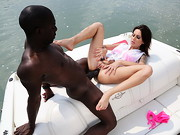 Seeing Wanessa on the boat and watching how she struggles with that massive black cock ...