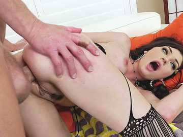 Young brunette Jessica Rex is giving her ass for total Mark's control