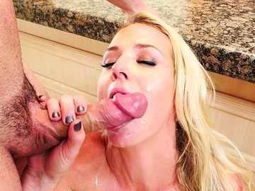 Crummy blonde Sydney Hail is totally satisfied with the huge penis of big man
