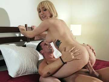 Hot blonde Lily Labeau is fucking her husband as never before