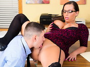 Brad really wants a promotion at his work. He talks to his boss, Sydney Leathers, about it. ...