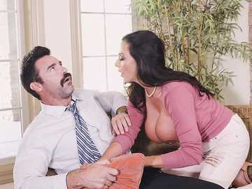 Ariella Ferrera plays dirty by mature Charles Dera to get big tits worship