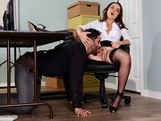 Dillion Harper and Damon Dice work at a call center together in which theyre competing against ...