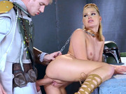 Princess Abby Cross gets rough fuck from behind from the intergalactic hunter