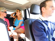 Nerdy, religious Chad Diamond likes to spread the word to his ride-share passengers; ...