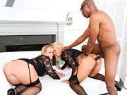 Sultry BBW Dee Siren and interracial cock slut Naughty Alysha want to get Alysha's ass ...