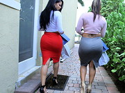 Woah! Diamond Kitty and Spicy J has ass for days! These sexy Latinas just got back from ...